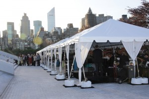 event in tent